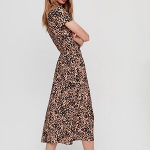 Aritzia Dresses - Aritzia Wilfred Leopard Shirt Dress